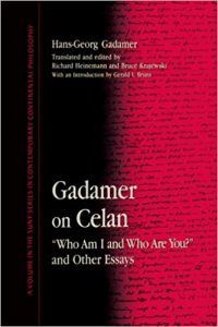 book cover of Gadamer on Celan