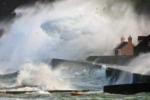 photo of storm on Guernsey Island