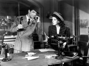 photo of phone call from Cary Grant film