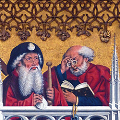 medival manuscript image of scholars reading Creative Commons license